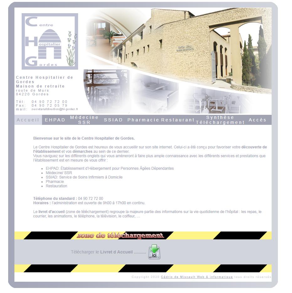 www.hl-gordes.fr - Gordes en Luberon Web et Informatique en luberon - Site internet et referenecment - cedric de miscault - apt à cavaillon