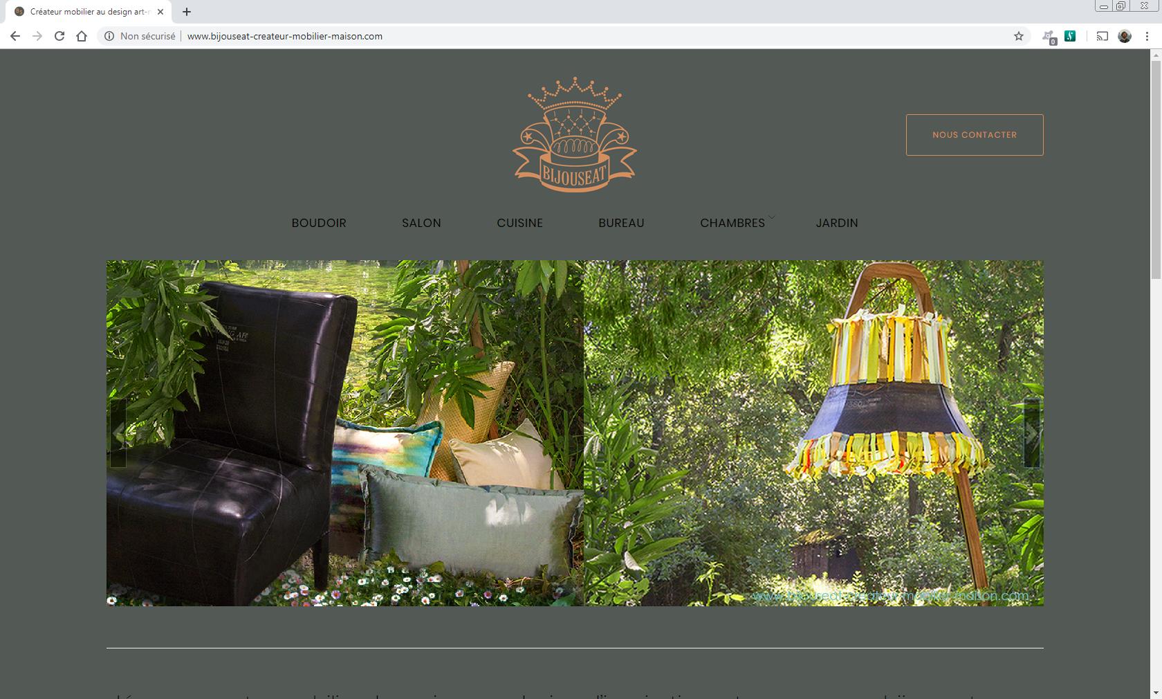 www.bijouseat-createur-mobilier-maison.com Web et Informatique en luberon - Site internet et referenecment - cedric de miscault - apt à cavaillon