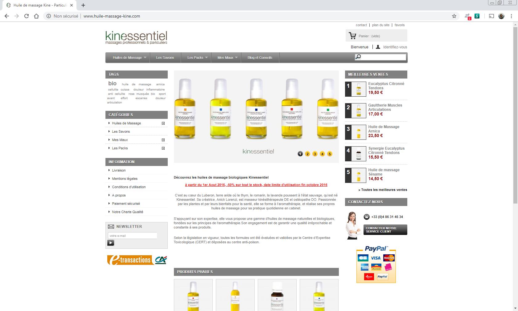 www.kinessentiel.com - Bonnieux & Luberon Web et Informatique en luberon - Site internet et referenecment - cedric de miscault - apt à cavaillon