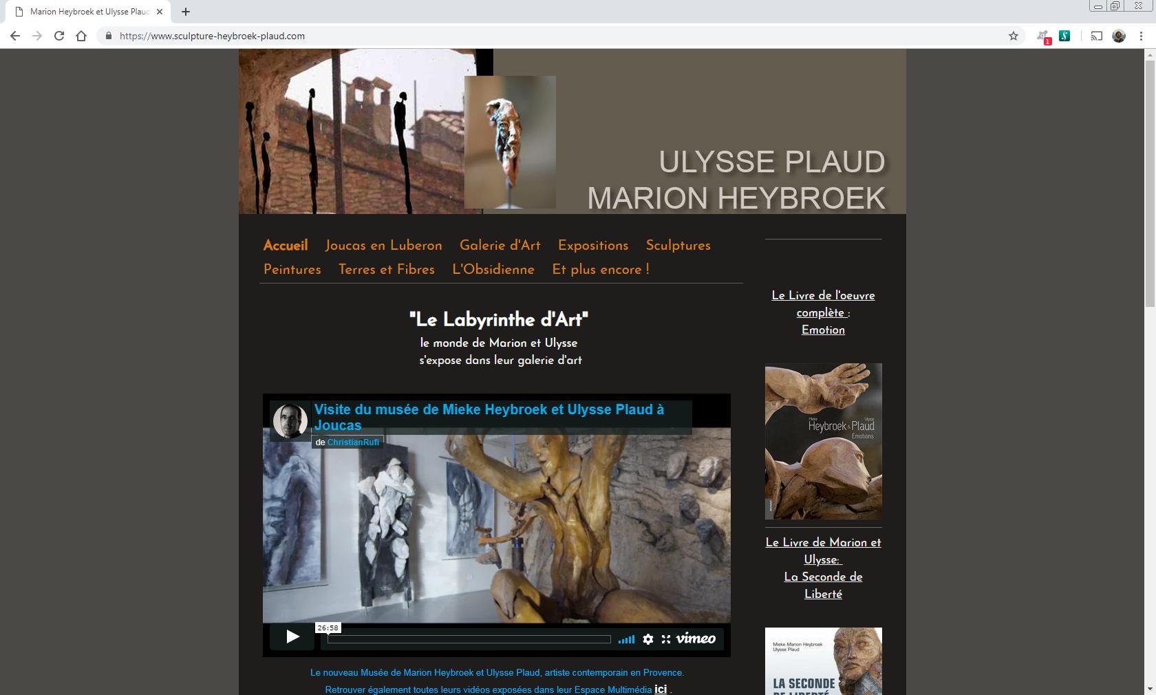 www.sculpture-heybroek-plaud.com - Joucas en Luberon Web et Informatique en luberon - Site internet et referenecment - cedric de miscault - apt à cavaillon