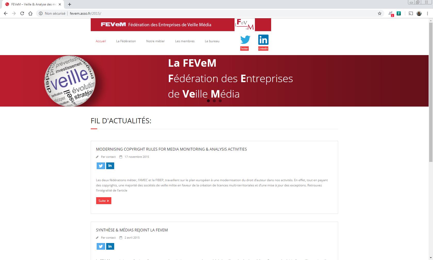 http://fevem.asso.fr - Paris Web et Informatique en luberon - Site internet et referenecment - cedric de miscault - apt à cavaillon