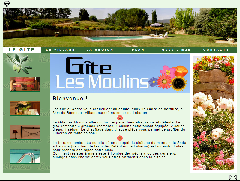 http://gitelesmoulins.fr - Bonnieux & Luberon Web et Informatique en luberon - Site internet et referenecment - cedric de miscault - apt à cavaillon