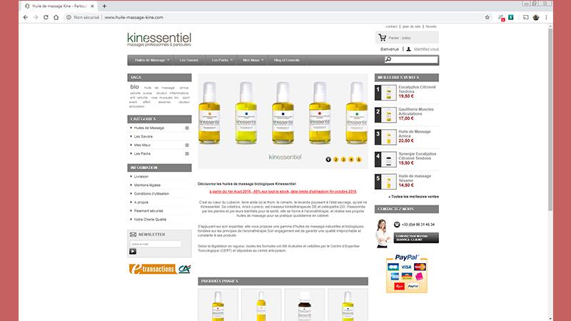 kinessentiel Web et Informatique en luberon - Site internet et referencement - cedric de miscault - apt à cavaillon par web-et-informatique.com